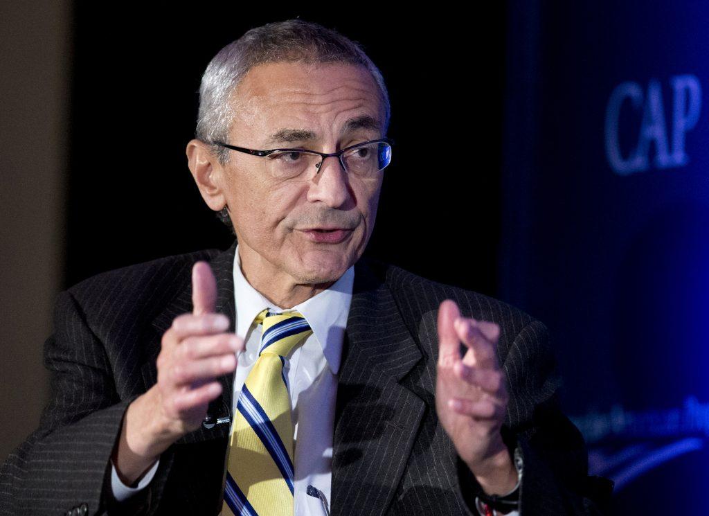 John Podesta, chairman of Clinton's presidential campaign. (AP Photo/Manuel Balce Ceneta, File)