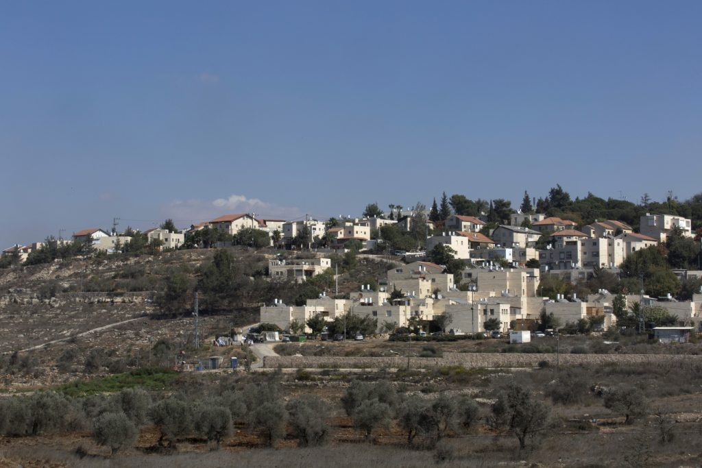A view of Beit El. (AP Photo/Nasser Nasser)
