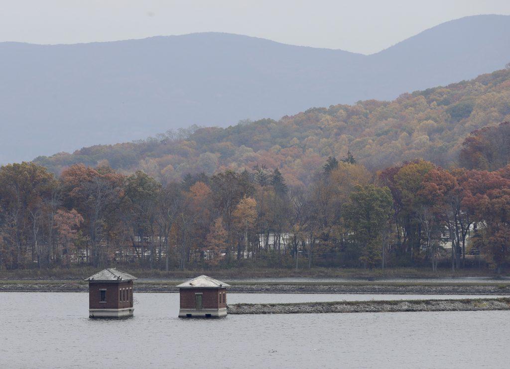 This Thursday, Nov. 3, 2016, photo shows water intakes at Lake Washington in Newburgh, N.Y. (AP Photo/Mike Groll)
