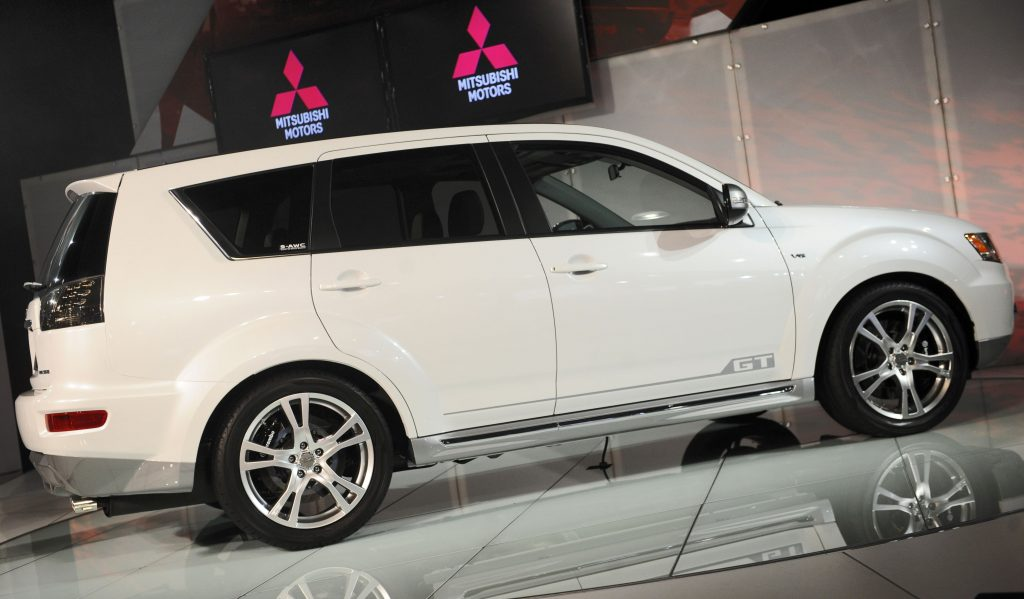 A Mitsubishi Outlander GT at the 2009 New York International Auto Show. (AP Photo/Richard Drew, File)