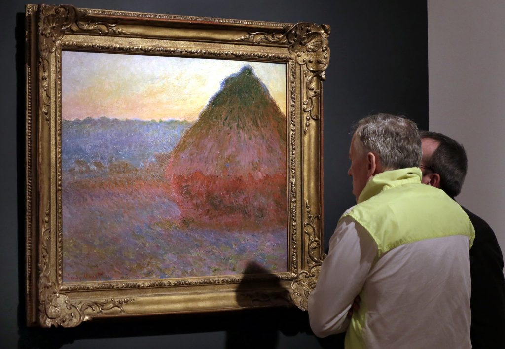 "Claude Monet's ""Grainstack."" (AP Photo/Richard Drew, File)"