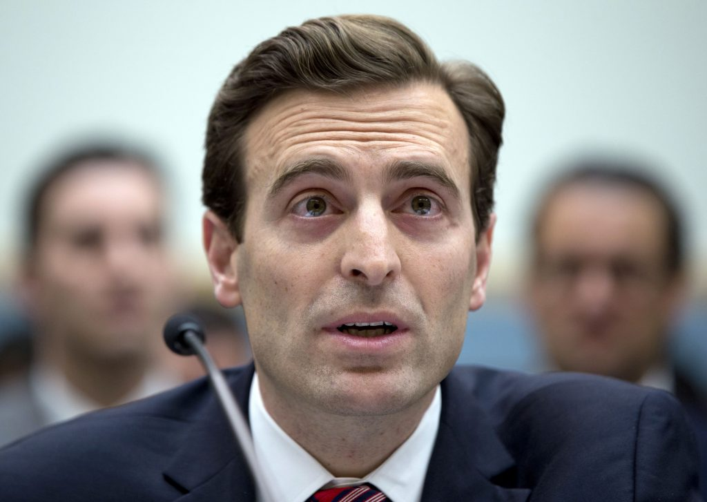 Nevada Attorney General Adam Laxalt testifying before the House Judiciary committee on Capitol Hill in 2015. (AP Photo/Carolyn Kaster, File)