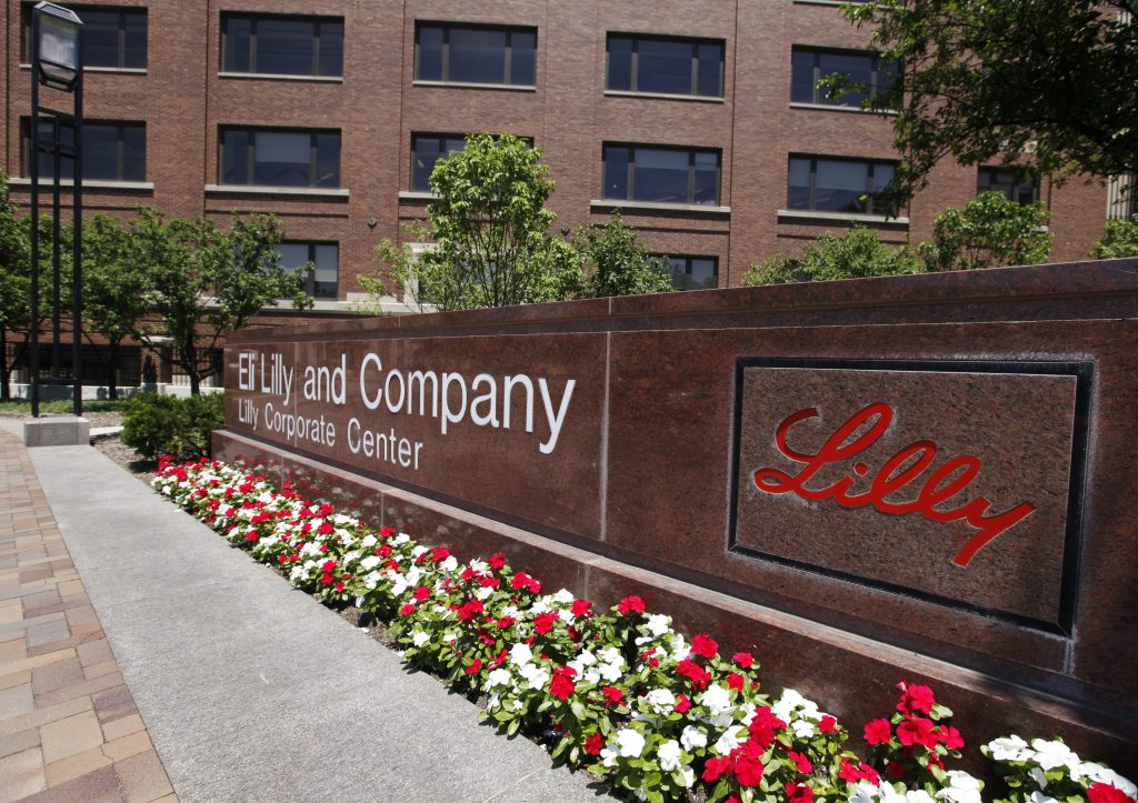 Eli Lilly and Company corporate headquarters in Indianapolis. (AP Photo/Darron Cummings, File)