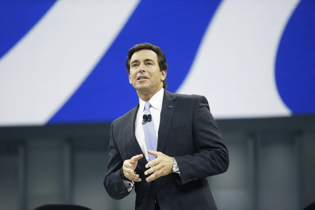 Mark Fields, president and CEO of the Ford Motor Co. (AP Photo/Carlos Osorio)