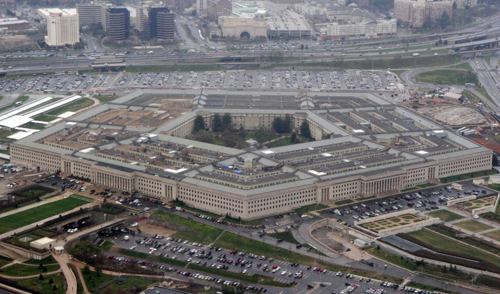 FILE - The Pentagon is seen in this aerial view in Washington. (AP Photo/Charles Dharapak, File)