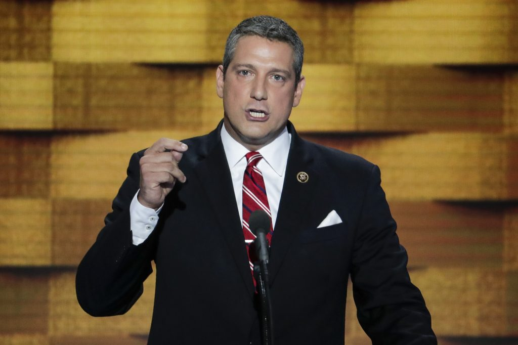 Rep. Tim Ryan, D-Ohio, speaks during the final day of the Democratic National Convention in Philadelphia, in July. (AP Photo/J. Scott Applewhite)