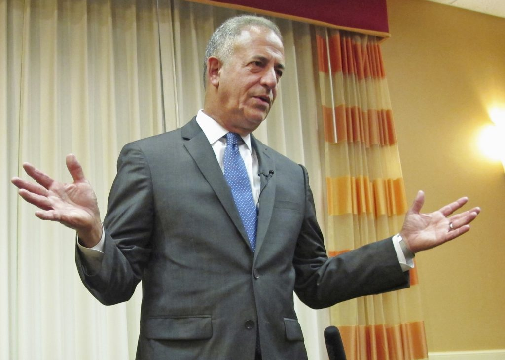 Democratic U.S. Senate candidate Russ Feingold talks in Middleton, Wis., in July. (AP Photo/Scott Bauer, File)