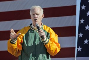 Republican U.S. Sen. Ron Johnson speaks during the 1st Congressional District Republican Party of Wisconsin's annual Fall Fest event in Elkhorn, Wis., last month. (Anthony Wahl/The Janesville Gazette via AP, File)