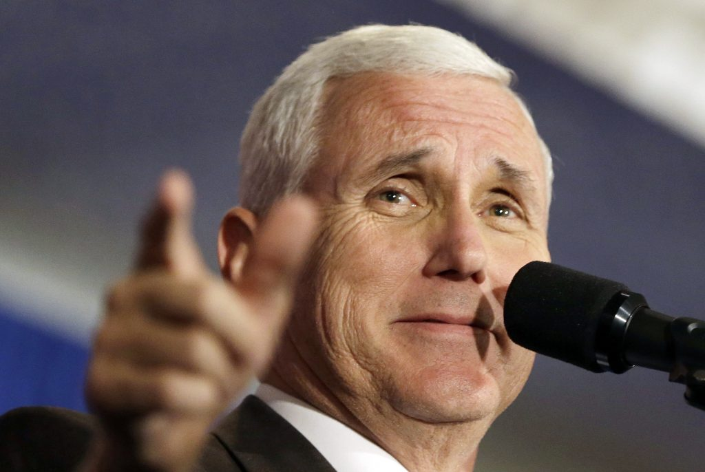 Mike Pence, shown here speak to supporters at a campaign rally in Miami on Nov. 4. (AP Photo/Alan Diaz)