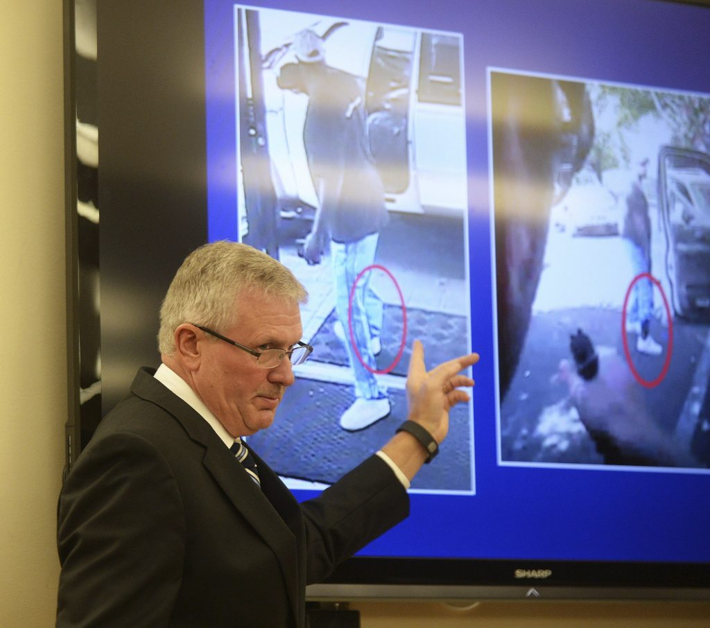 District Attorney Andrew Murray at a news conference Charlotte, N.C., on Wednesday. Murray announced that the fatal shooting by officer Brent Vinson was justified. (Diedra Laird/The Charlotte Observer via AP)