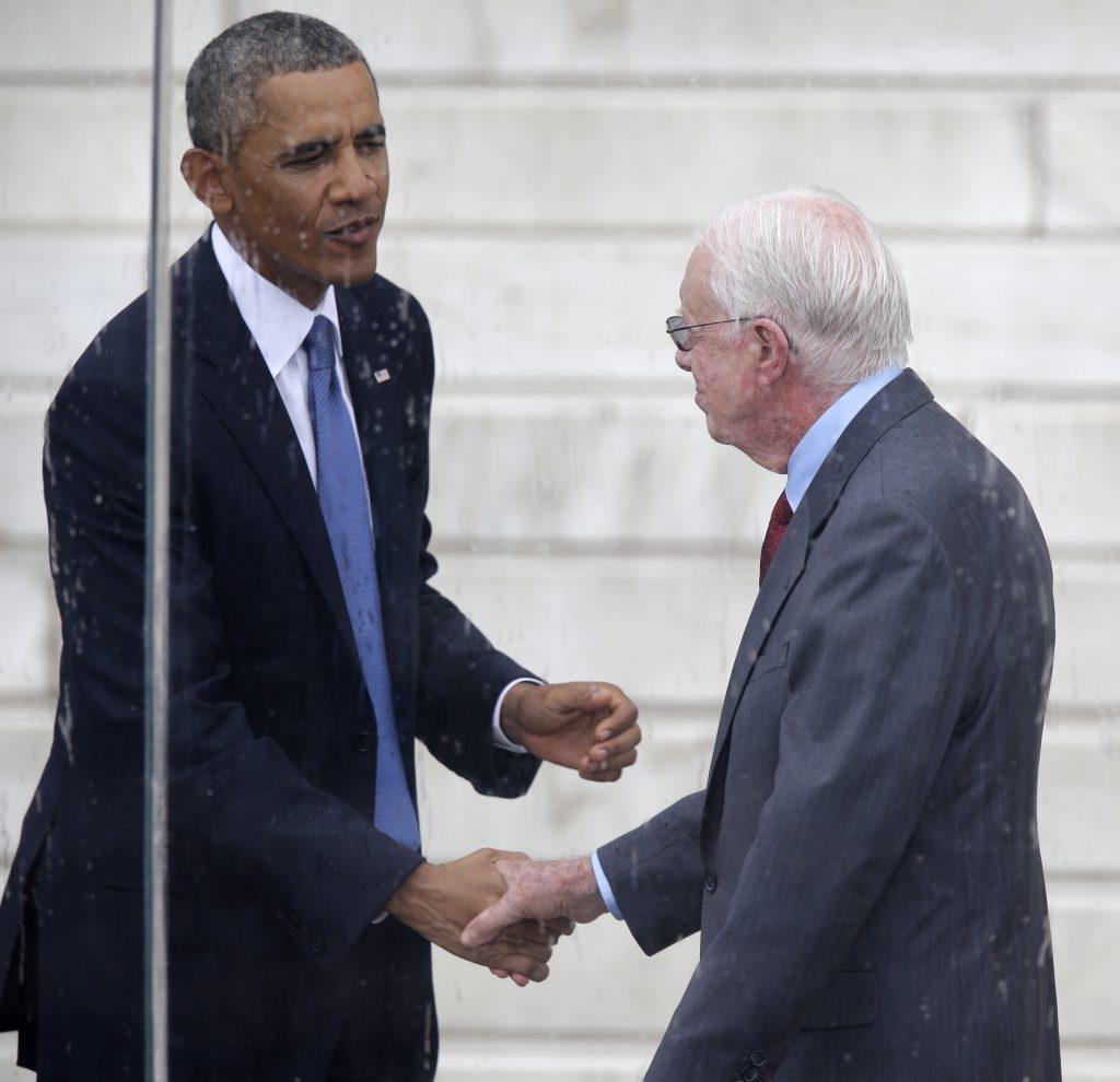 President Barack Obama and former President Jimmy Carter in 2013. (AP Photo/Carolyn Kaster)
