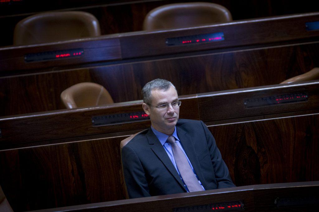 Israeli Minister of Tourism Yariv Levin, of Likud. (Yonatan Sindel/Flash90)