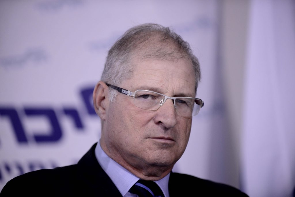 David Shimron, the lawyer accused of conflict of interest in buying German-made submarines for the Israeli navy. (Tomer Neuberg/Flash90)