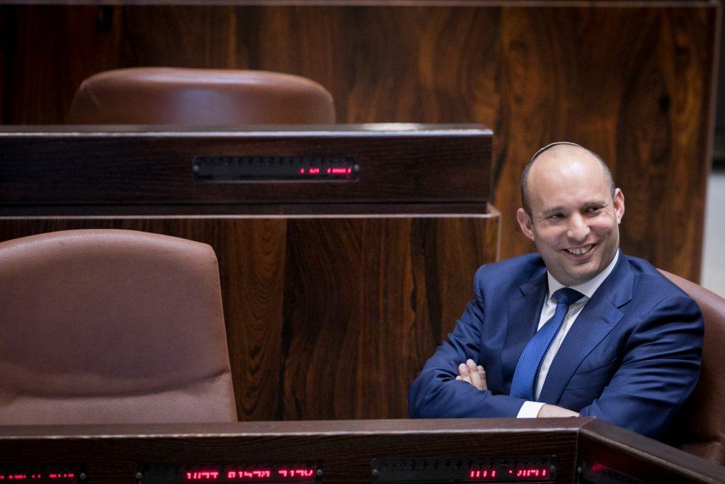 Education Minister Naftali Bennett, of Jewish Home. (Yonatan Sindel/Flash90)