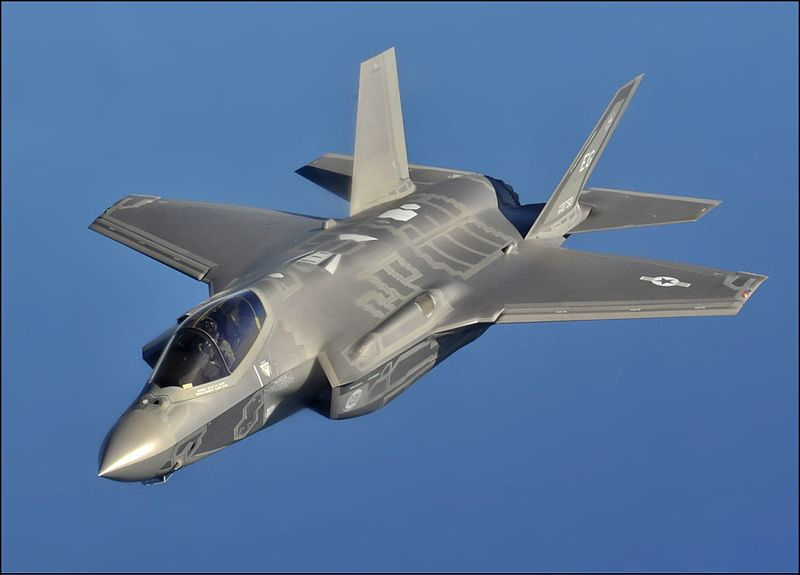 An F-35 Stealth Fighter.