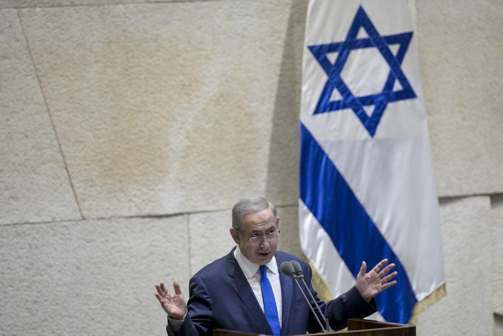 Israeli Prime Minister Binyamin Netanyahu (Yonatan Sindel/Flash90)