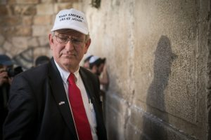 Marc Zell, the head of Republicans Overseas Israel branch, pray at the Western Wall in Jerusalem Old City on November 9, 2016, A day after US republican president candidate Dondald Trump won the 2016 american election. Photo by Yonatan Sindel/Flash90 *** Local Caption *** כותל העיר העתיקה ביקור ניצחון מארק צל המפלגה הרפובליקנית בישראל ירושלים