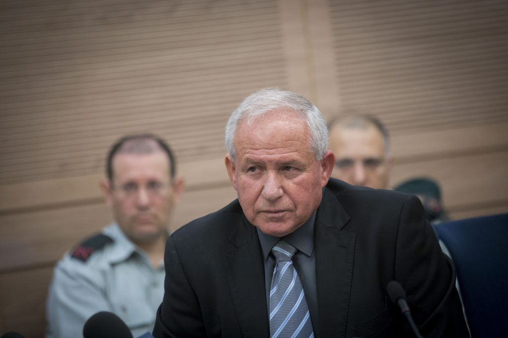 Chairman of the Knesset Security and Foreign Affairs Committee Avi Dichter. (Miriam Alster/Flash90)