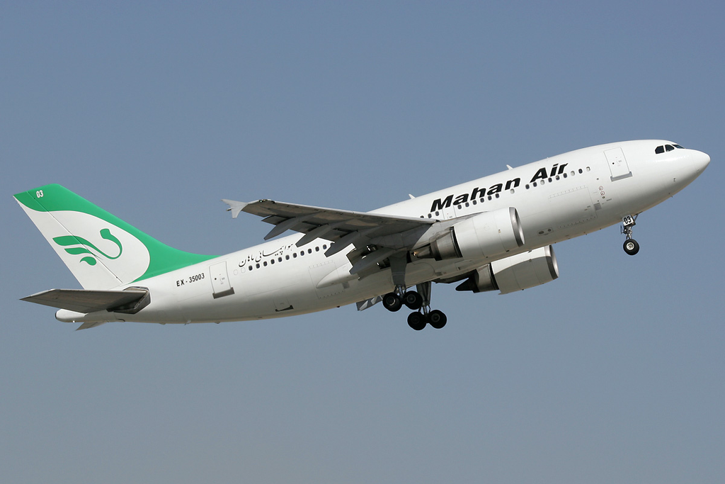 A Mahan Air Airbus A310-300. Israel says the airline has been carrying not only passengers but also weapons for Hezbollah. (Dmitriy Pichugin)