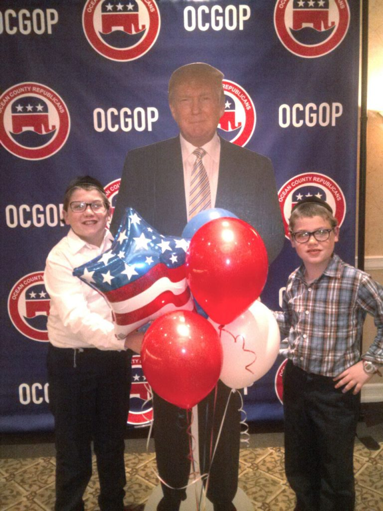 Lakewood boys celebrate the Trump victory at the Ocean County Republicans' victory party.
