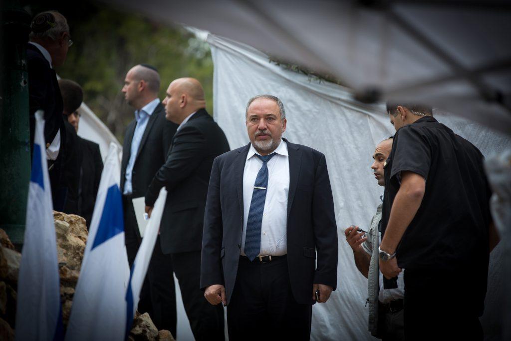 Israeli Minister of Defense Avigdor Liberman. (Miriam Alster/Flash90)