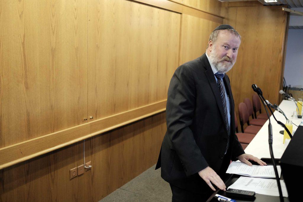 Israeli Attorney General Avichai Mandelblit. (Tomer Neuberg/Flash90)