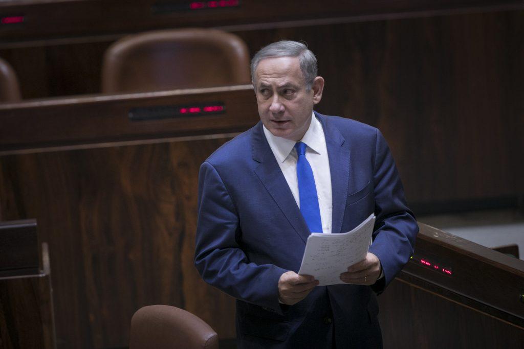 Prime Minister Binyamin Netanyahu. (Yonatan Sindel/Flash90)
