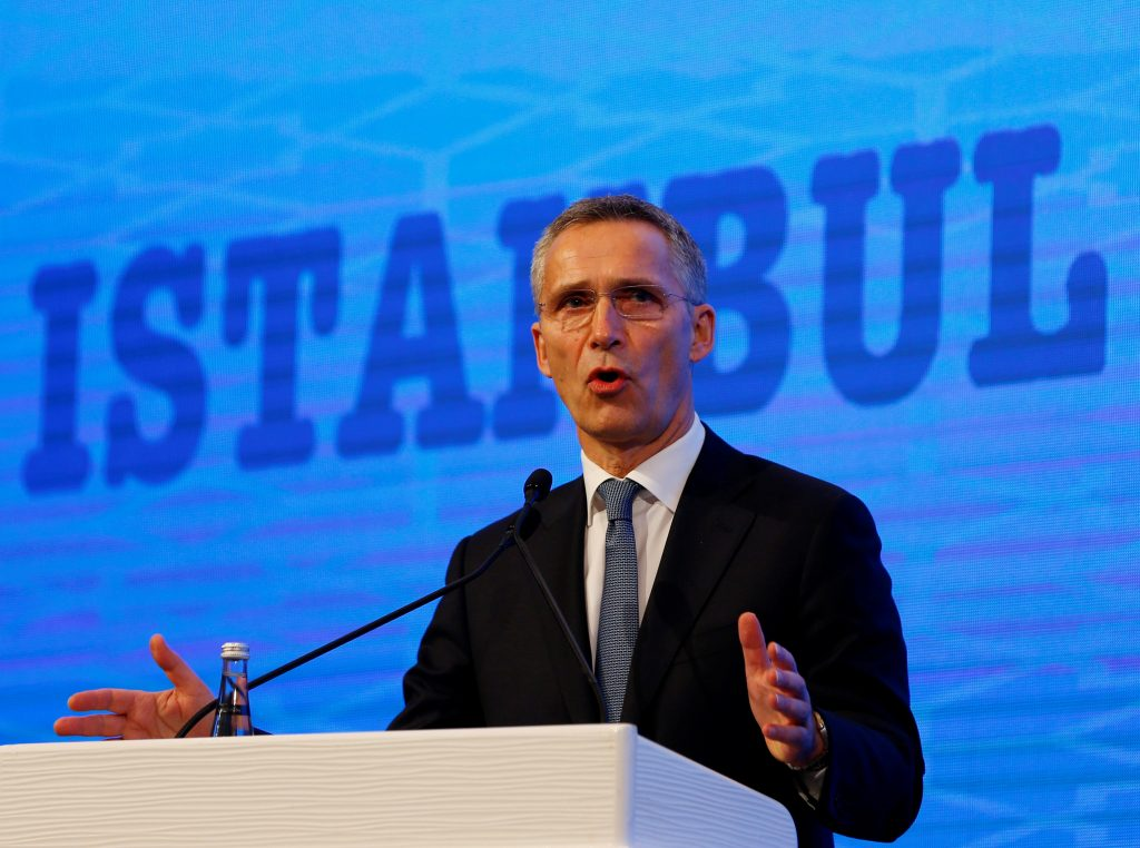 NATO Secretary-General Jens Stoltenberg speaks during the NATO Parliamentary Assembly 62nd Annual Session in Istanbul, Turkey, November 21, 2016. REUTERS/Murad Sezer
