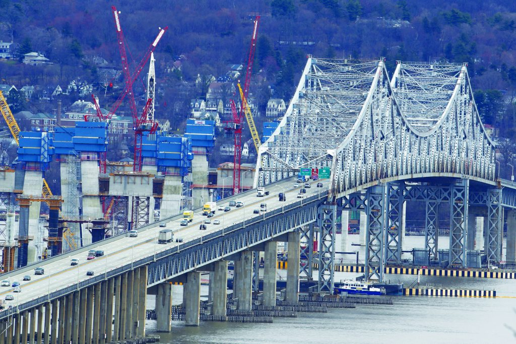 Thruway traffic goes over the picturesque Tappan Zee Bridge in Nyack, NY.(AP Photo/Julio Cortez)