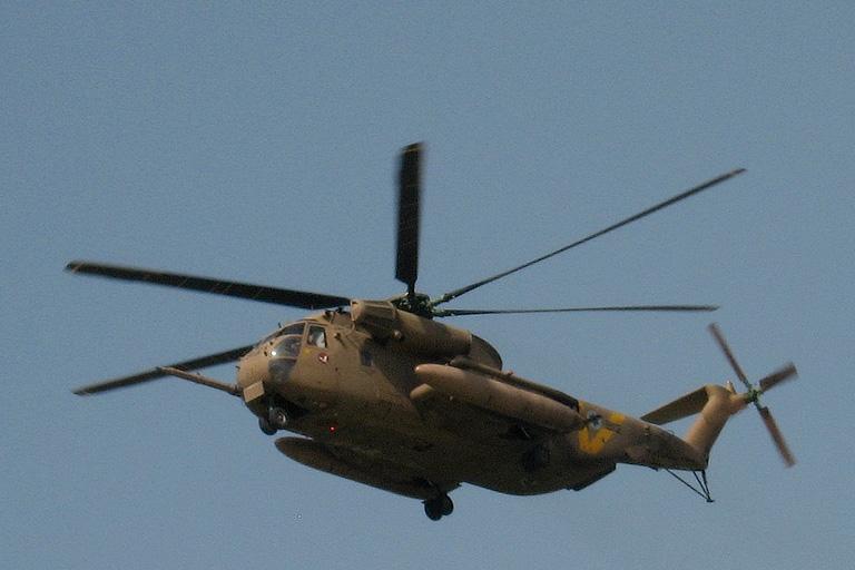 An IAF Sikorsky CH-53 Yasour helicopter. (Nehemia G.)