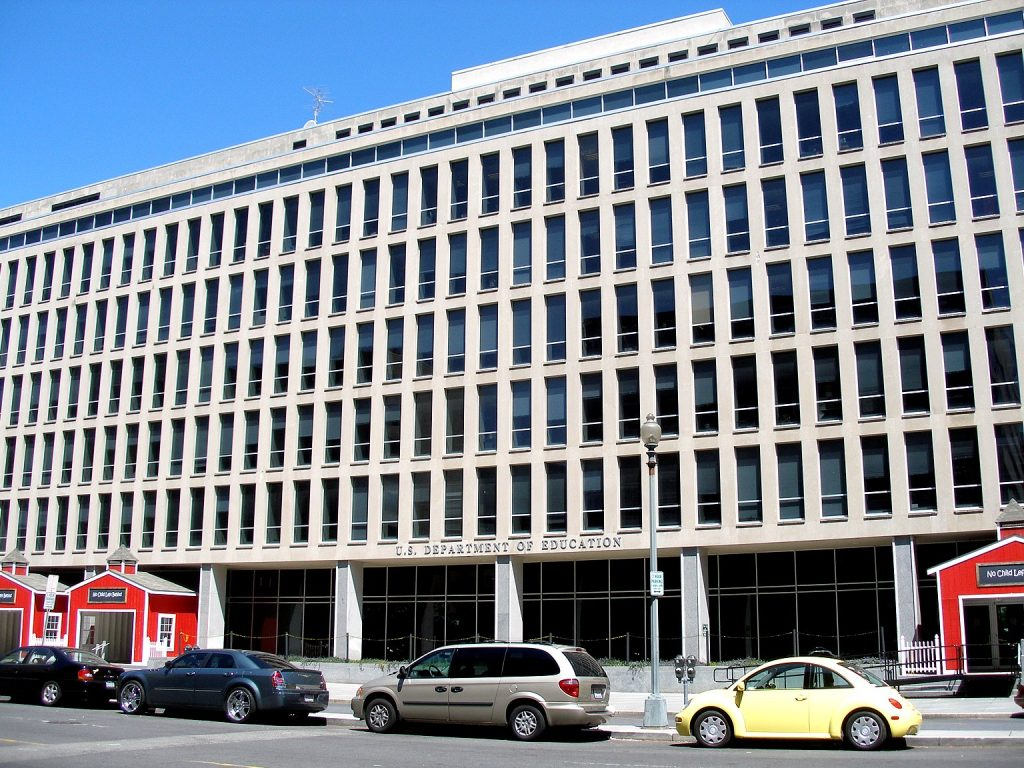 The Lyndon B. Johnson Building, headquarters of the w:United States Department of Education in w:Washington, D.C.