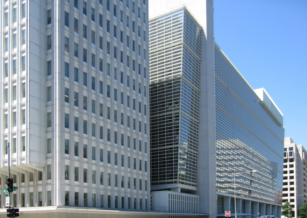 The World Bank Group headquarters building in Washington, D.C. (Flickr)