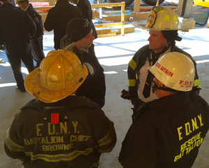 New York City Emergency Management and Fire Department officials at the scene of the accident. (FDNY)