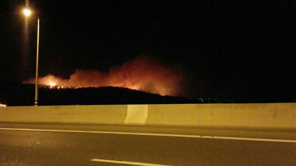 The fire at Latrun. (Hachadashot Hachamot)