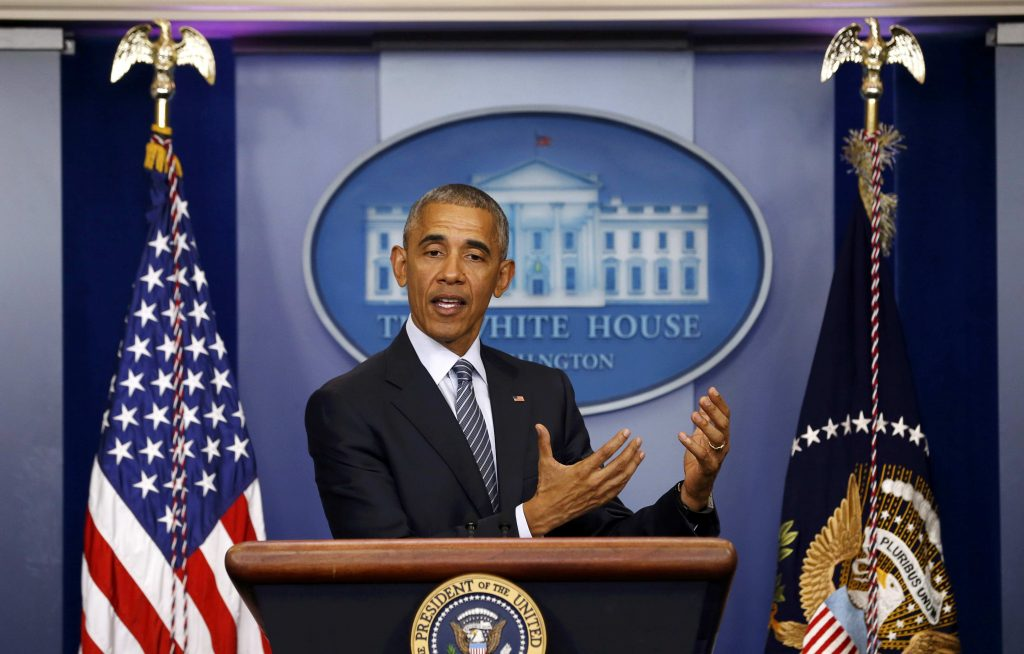 President Barack Obama at a press conference at the White House on Monday. (Reuters/Jonathan Ernst)