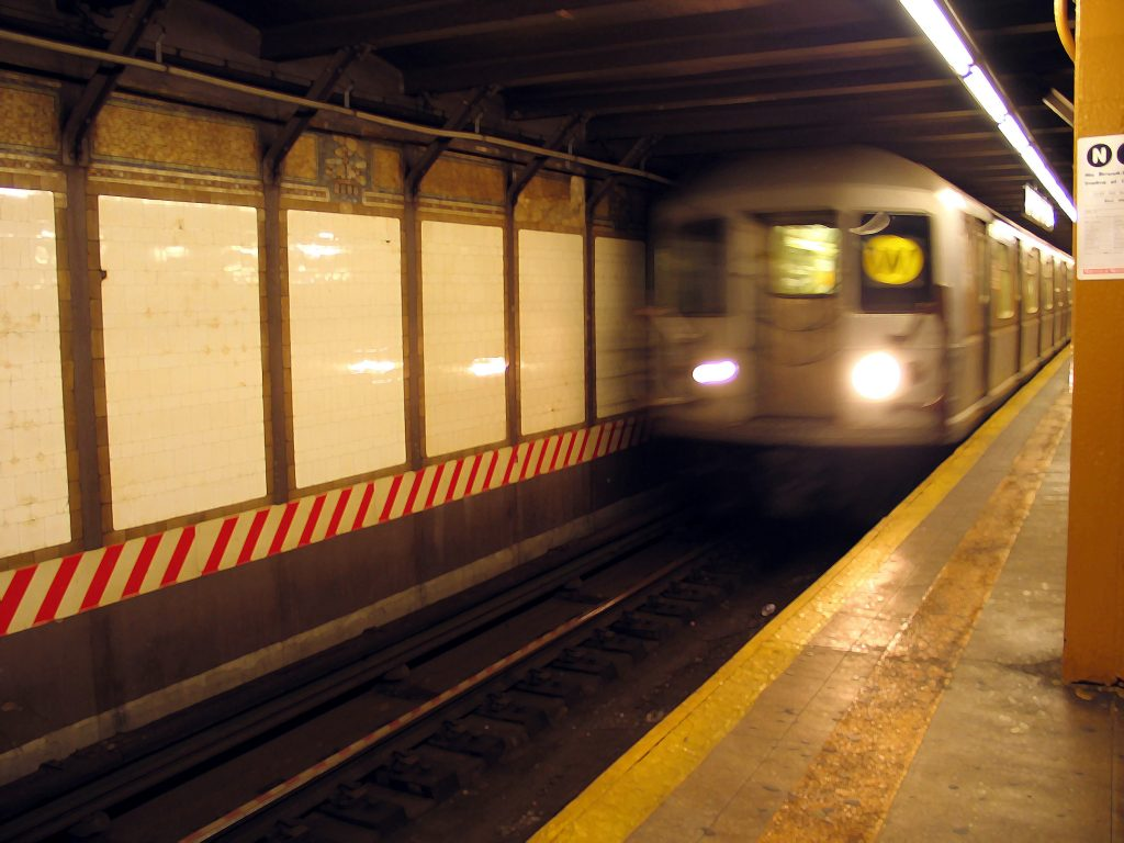 File photo of a W train pulling into City Hall station. The W line is returning to the New York City subway system after a six-year hiatus.