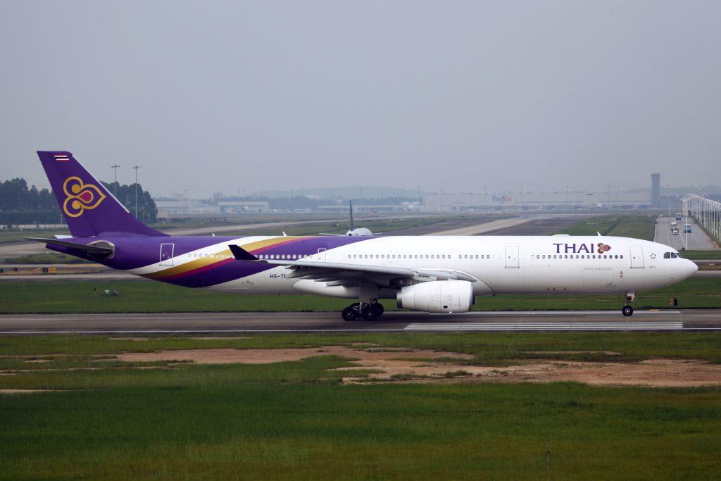 A Thai Airways plane.