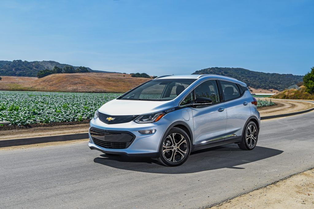 The all-electric Chevy Bolt has a 238-mile range and costs just under $30,000 with the $7,500 federal EV tax credit. (Chevrolet/TNS)