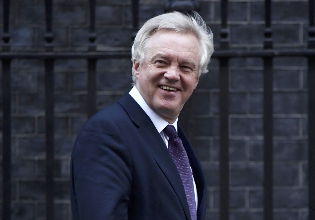 Britain's Secretary of State for Leave the EU David Davis leaves number 10 Downing Street after a cabinet meeting in London, November 29, 2016. (Reuters/Toby Melville)