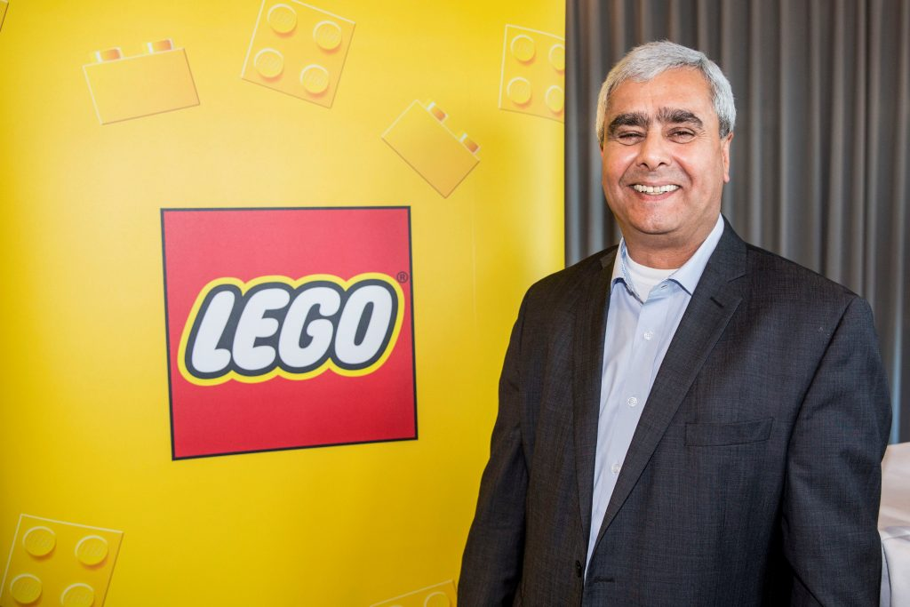 Lego Chief Operating Officer Bali Padda at a news conference Tuesday in Copenhagen, Denmark, at which he was introduced to the media as Lego's new CEO. (Scanpix Denmark/Nikolai Linares/via Reuters)