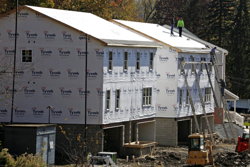 New homes under construction in Canonsburg, Pa. (AP Photo/Gene J. Puskar)