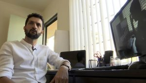 Assyrian filmmaker Sargon Saadi (AP Photo via AP video)