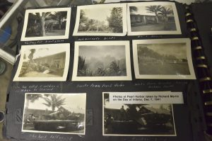 Photos taken on Dec. 7, 1941 at Pearl Harbor are displayed at the Veteran's Memorial Museum of Terre Haute, in Indiana. (Richard Martin via The Tribune-Star via AP)