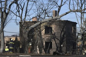 A destroyed home in the village of Hitrino, northeastern Bulgaria. (Petko Momchilov/Sky Pictures Bulgaria via AP)
