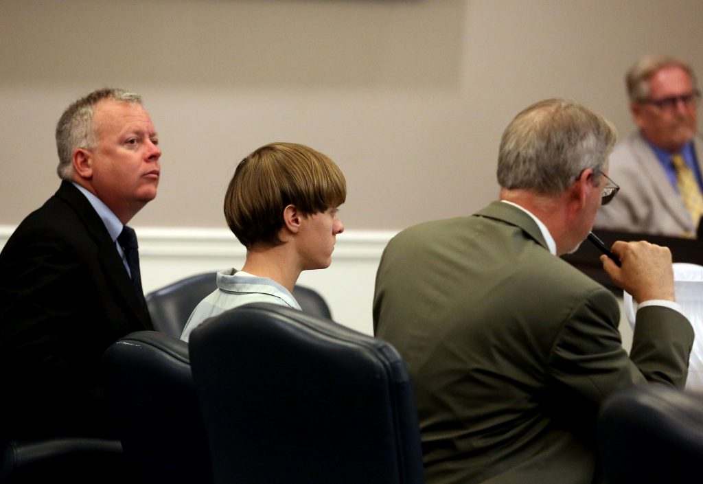 Dylann Roof appears at a court hearing in Charleston, S.C., on July 16, 2015. (Grace Beahm/The Post and Courier via AP, Pool)