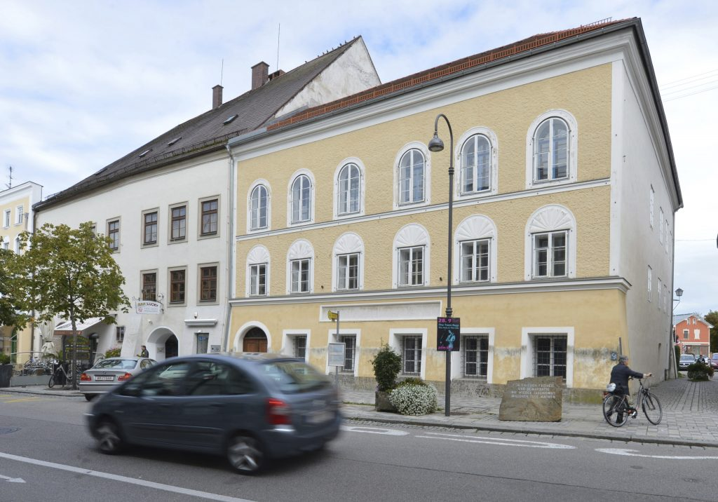 Adolf Hitler's birth house in Braunau am Inn, Austria. (AP Photo/Kerstin Joensson, File)