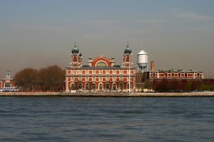 The east side of the main building at Ellis Island. (Flickr/Wikipedia)