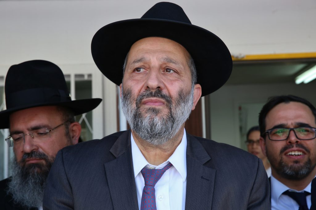 Israeli Minister of Interior Affairs Rabbi Aryeh Deri (Yaacov Cohen/Flash90)
