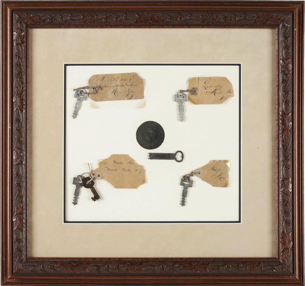 The exhibit titled Thomas A. Edison: Keys to His Menlo Park Laboratory. (Heritage Auctions via AP)