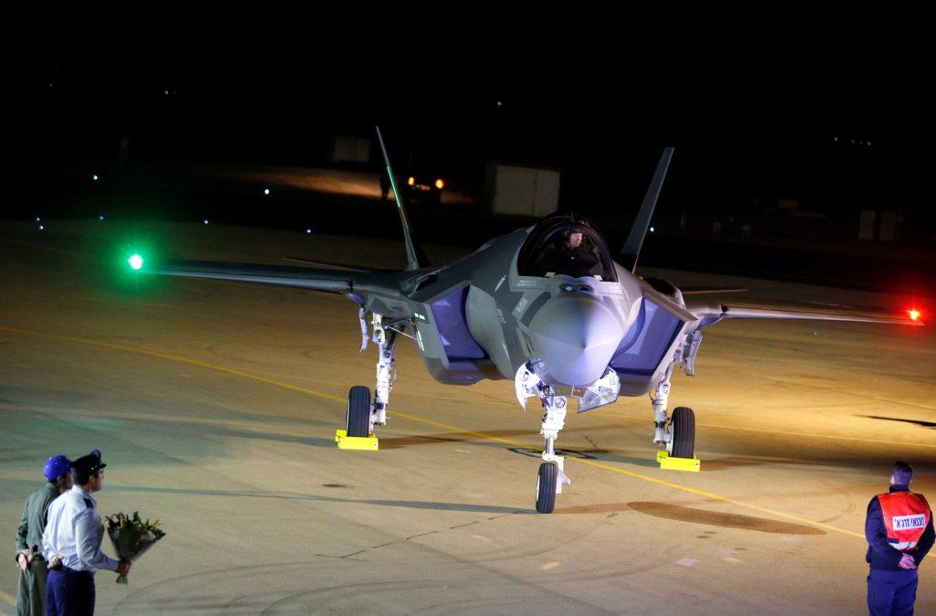 A F-35 fighter jet lands at Nevatim air base in Israel. (Reuters/Amir Cohen)